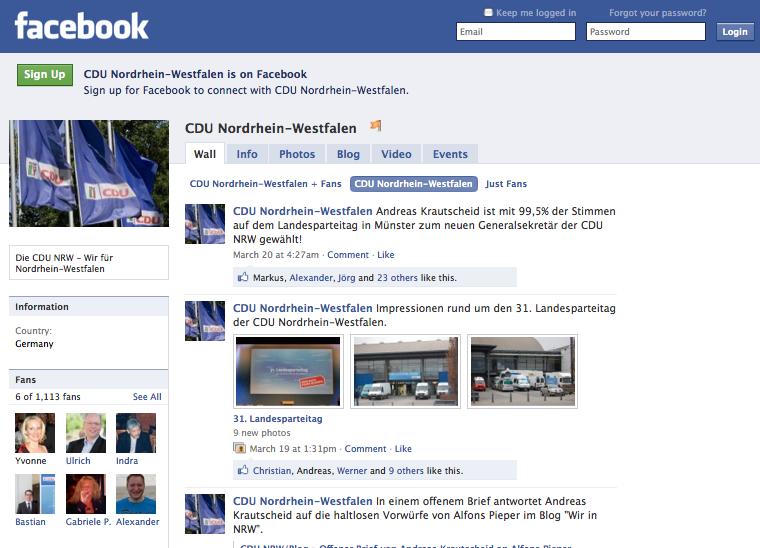 CDU NRW Facebook