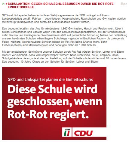 NRW für Rüttgers - Kampagnenbegleitende Materialien